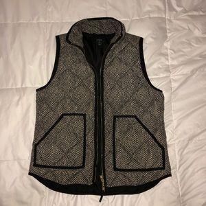Original J. Crew Herringbone puffer vest